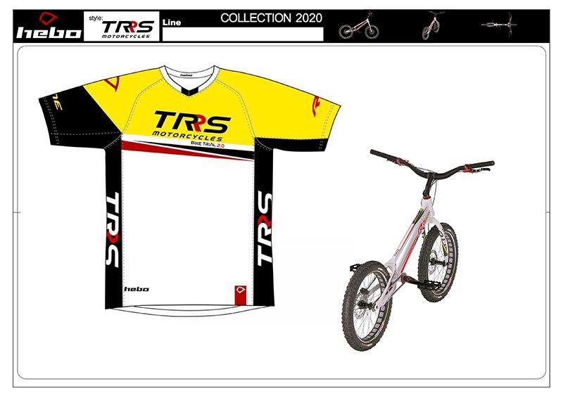 TRS BIKE TRIAL. RIDING SHIRT SMALL CYCLE SHIRT image