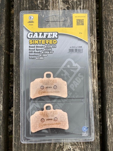 Sintered Galfer front pads . image