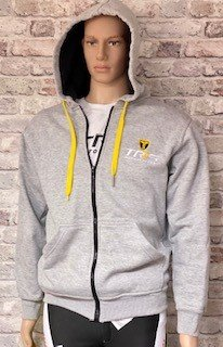 TRS LOGO  HOODIE LIGHT GREY SIZE SMALL image