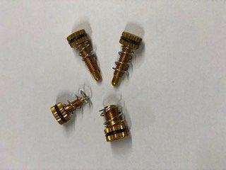 BRAKE, CLUTCH M/C ADJUSTMENT SCREWS 4 BOLT KIT. GOLD BRAKTEC, AJP image