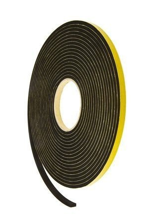 SELF ADHESIVE RUBBER STRIP 10 X 3mm BLACK (10 MTR ROLL ) image